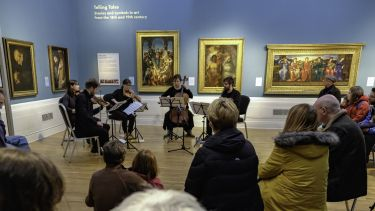 Graves Gallery string quartet audience
