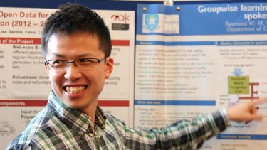 PhD student at the research poster session