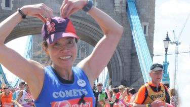 Kitty Hung running the London Marathon in aid of scholarships