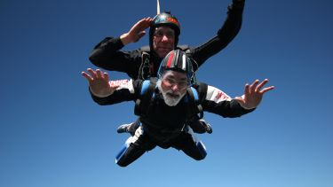 Alan taking on a Skydive in support of SITraN