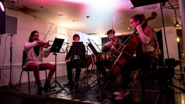 String Quartet performing on stage