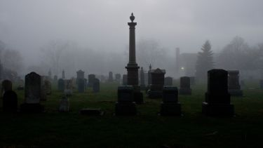 Image of gravestones in a cemetery
