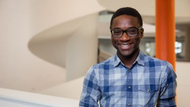 Akinmi Akingbade, Aerospace Engineering student and scholarship recipient in the Diamond