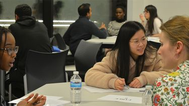 Students get careers advice from economics alumni and advisory board