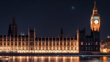 The houses of Parliment at night - image