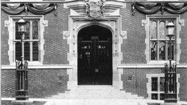 Old picture of Firth Court doorway