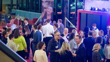 The evening reception at the Crucible theatre