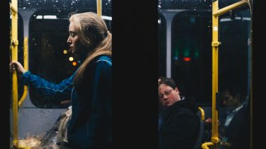 Image of woman on a bus