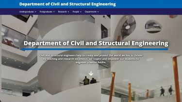 Department of Civil Engineering homepage