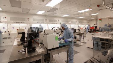Inside the clean room in the National Epitaxy Facility