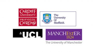 The PhD project can be with any of our partner institutions – Cardiff, Manchester, Sheffield, or UCL.