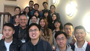 Photo of Weisheng Xiao and ELTC students