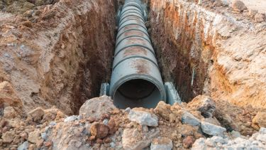 pipe in the ground