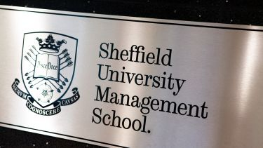 Plaque that reads 'Sheffield University Management School'