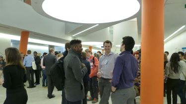 An image of an engineering industry networking event