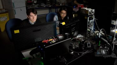 Researchers in the Biophysical Imaging Centre