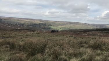 A group of geography students on Kinder Scout