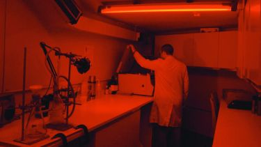 a man working in the luminescence lab