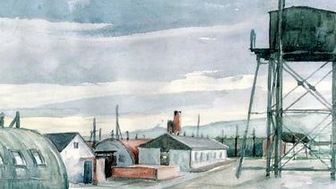 A painting by Heinz Georg Lutz whilst he was a prisoner of war at Lodge Moor. Herr Lutz was an architect and ex-Wehrmacht officer who was confined in the camp September 1945 - April 1948. Credit: Picture Sheffield