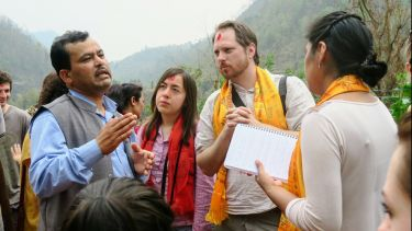 International Development students on field class in Nepal