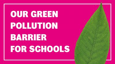 Green pollution barriers for schools header