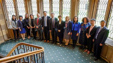 Academics from the University of Shaffield and Nanjing University in Firth Court