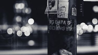 Big data is watching you poster on pole