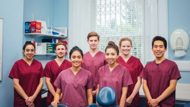 Undergraduate students in the School of Clinical Dentistry.