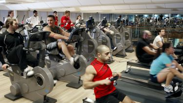 Students at Gym