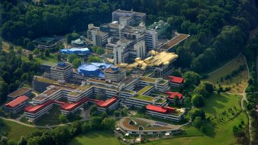 Aerial view of University of Konstanz.