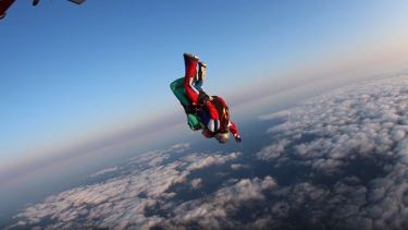 A student skydiving