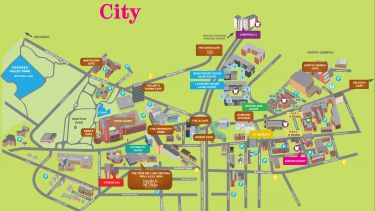 City map of the residences available