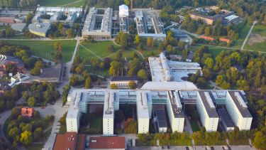 Aerial view of Stockholm University campus