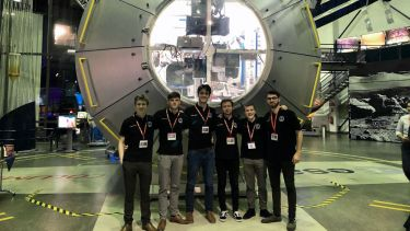 Student team, SunSat, visited the ESA as part of their work.