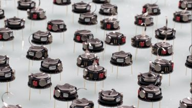 A large group of swarm robots