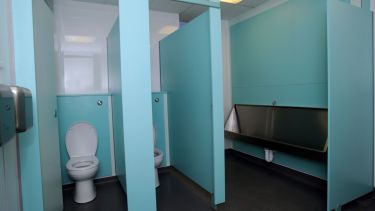Photograph of school toilets