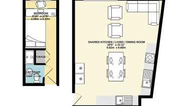 St Vincents en - suite floor plan