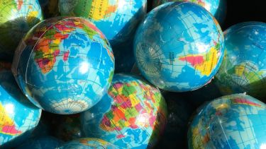 Photograph of world globes