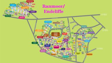 Ranmoor and Endcliffe Residences map with pink text