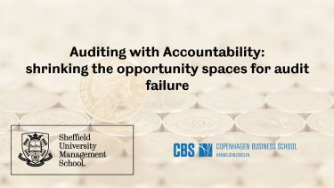 Auditing with Accountability: shrinking the opportunity spaces for audit failure