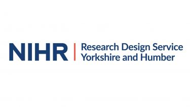 The Research Design Service logo. It says NIHR Research Design Service Yorkshire and Humber. It is navy and orange.