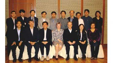 Image of Alan's East Asian Doctoral Students, past and present in Hong Kong 2006.