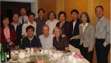Alan Walker having dinner with the Department of Social Work at Hong Kong Baptist University during his time as a visiting professor