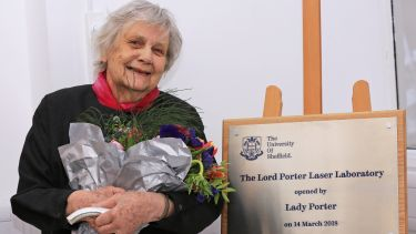 Lady Porter opens the Lord Porter Ultrafast Laser Spectroscopy Laboratory