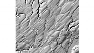 Drumlins of the Puget Sound, Washington State, USA. This LIDAR image is about 6 km wide. Image courtesy: Ralph Haugerud.
