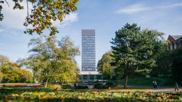 The Arts Tower, viewed from Weston Park