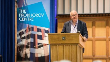 John Lanchester delivers Prokhorov Lecture