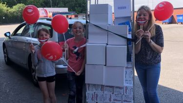 School of Dentistry donates toothpaste supplies