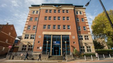 The Department of Journalism Studies building at 9 Mappin Street, Sheffield.