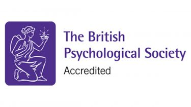 The British Psychological Society accreditation logo